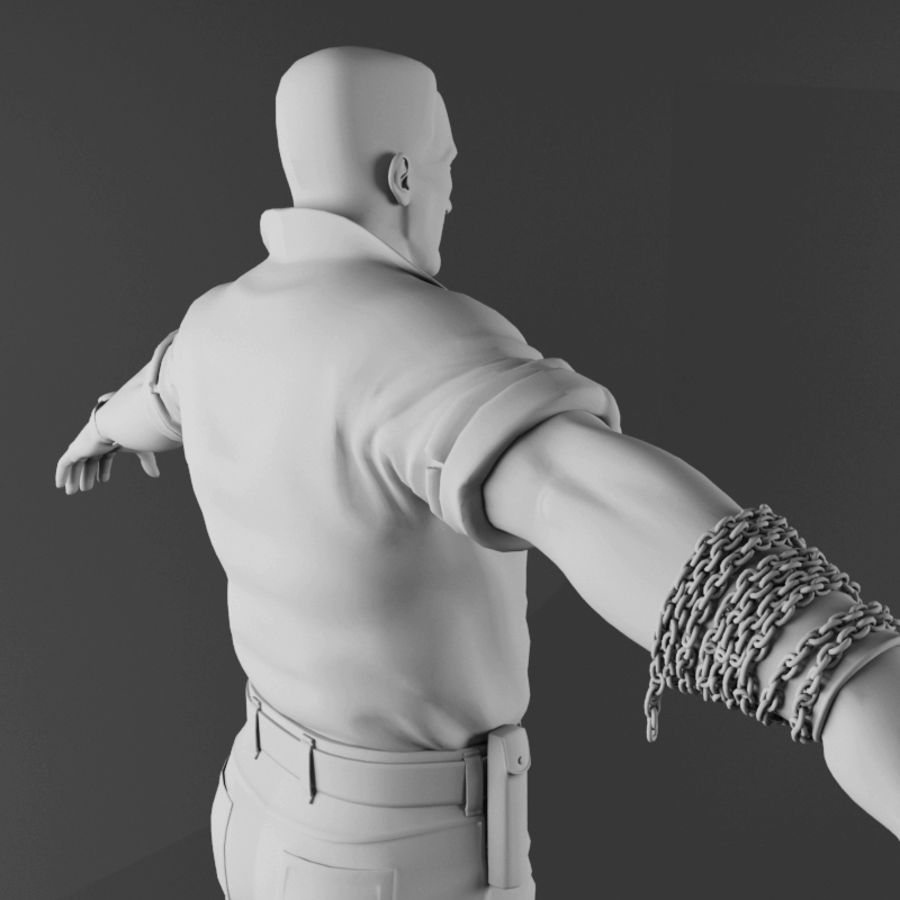 Man royalty-free 3d model - Preview no. 14