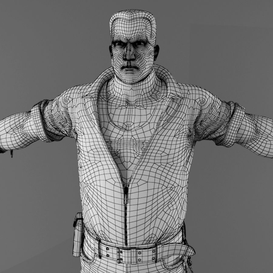 Man royalty-free 3d model - Preview no. 17