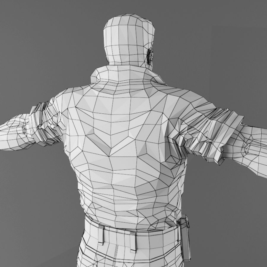 Man royalty-free 3d model - Preview no. 19