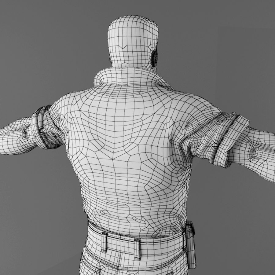 Man royalty-free 3d model - Preview no. 20