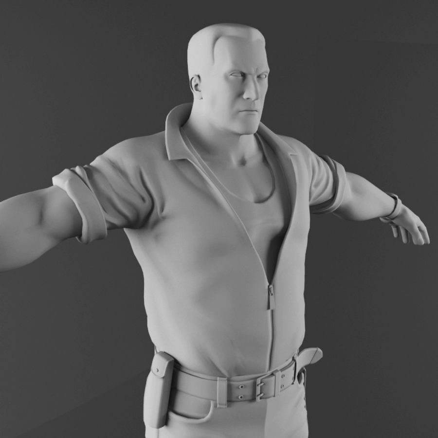 Man royalty-free 3d model - Preview no. 16