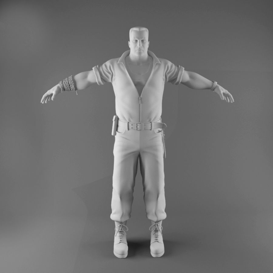 Man royalty-free 3d model - Preview no. 2
