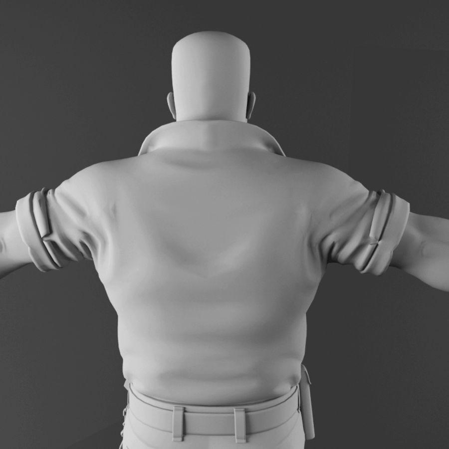 Man royalty-free 3d model - Preview no. 13