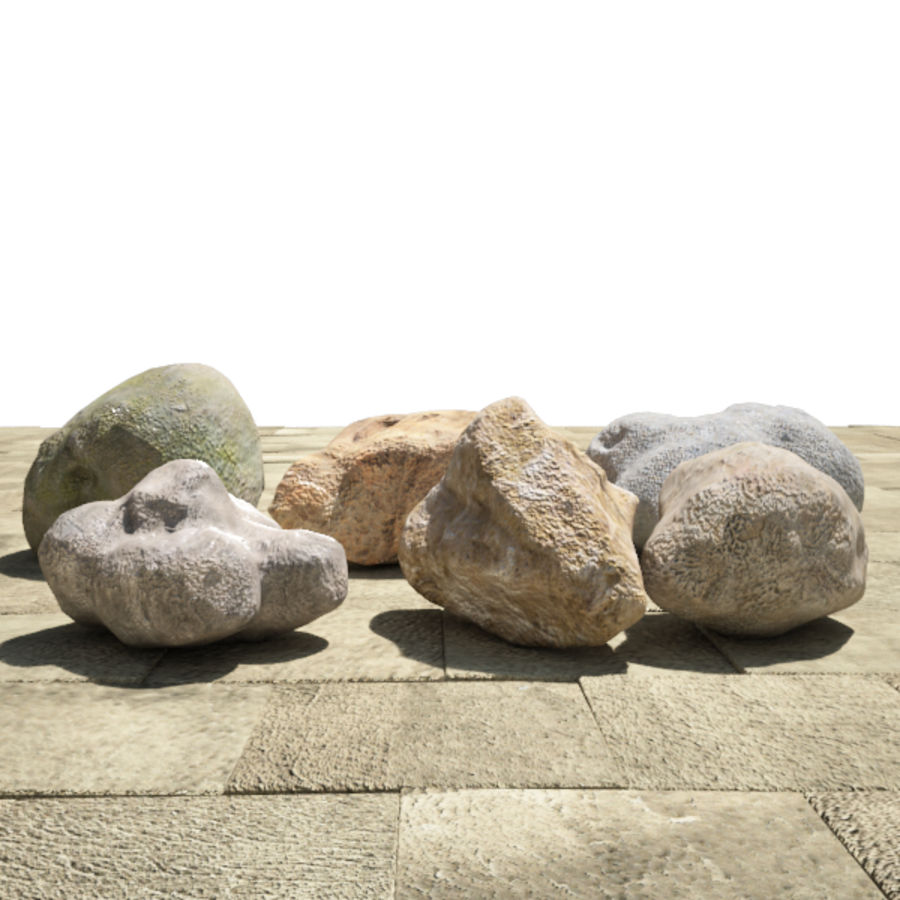 Rocks Pack royalty-free 3d model - Preview no. 1