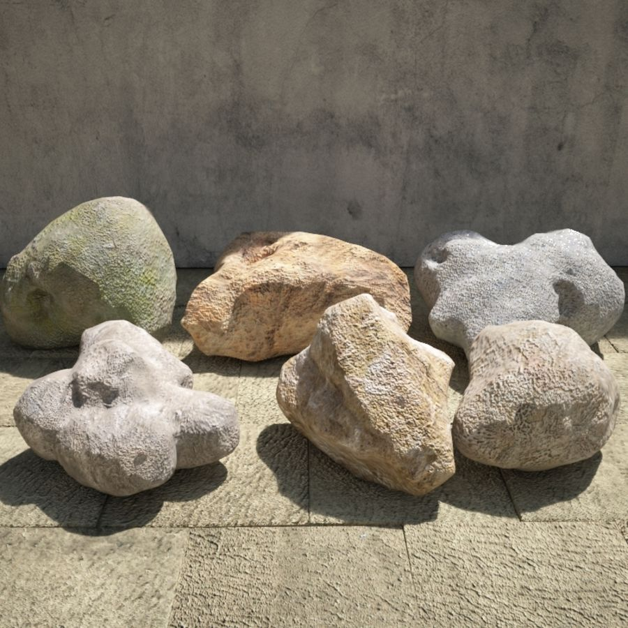 Rocks Pack royalty-free 3d model - Preview no. 2