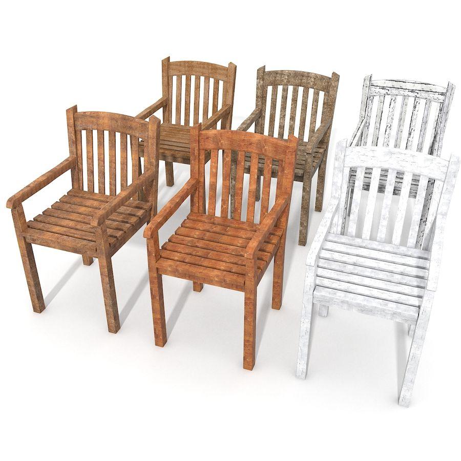 Bahçe Ahşap Tahta Sandalye Eski Yeni Kırsal Beyaz Boya Boyalı Avlu