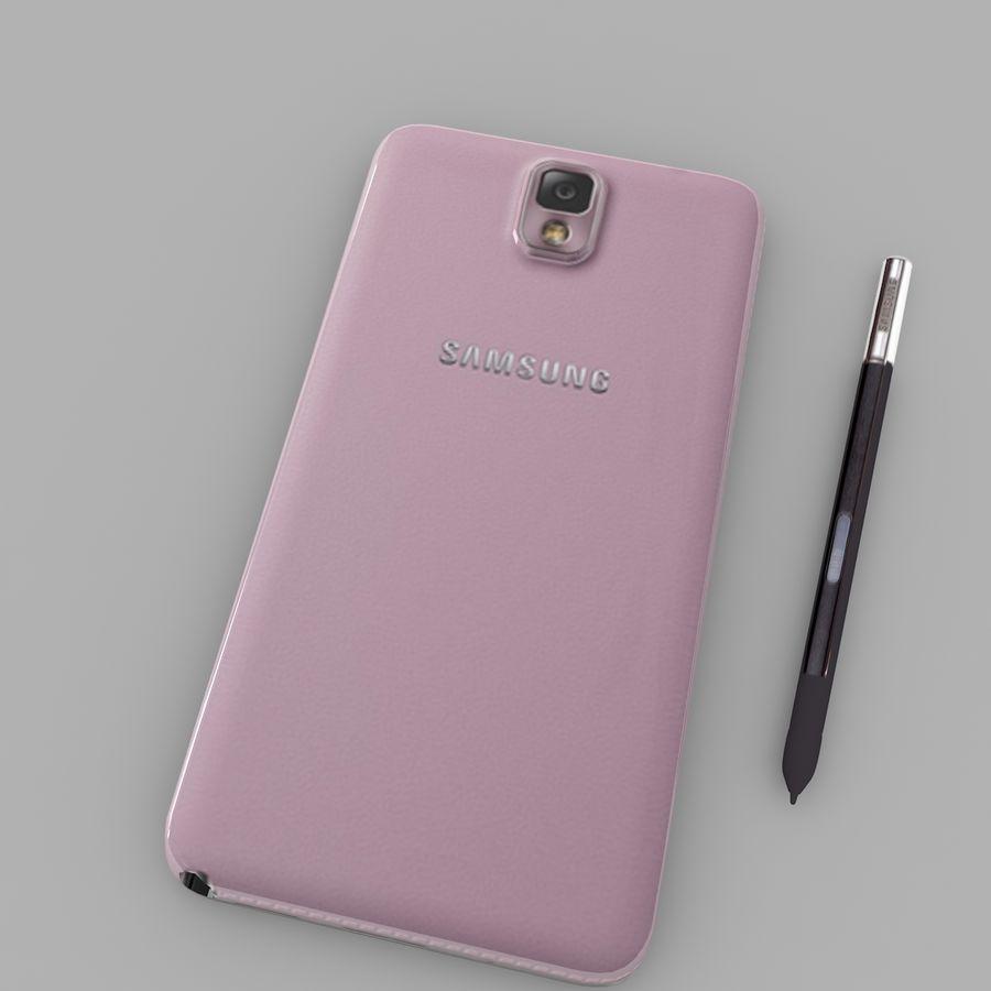 Samsung Galaxy Note 3 (rosa) royalty-free modelo 3d - Preview no. 4