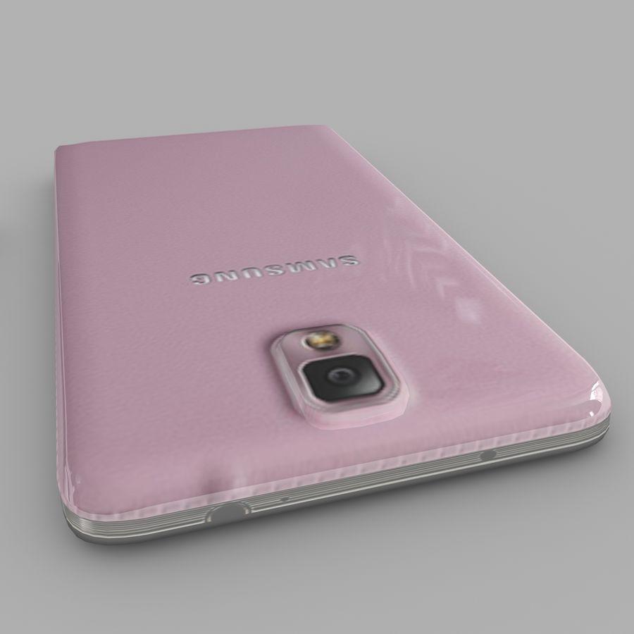 Samsung Galaxy Note 3 (rosa) royalty-free modelo 3d - Preview no. 6