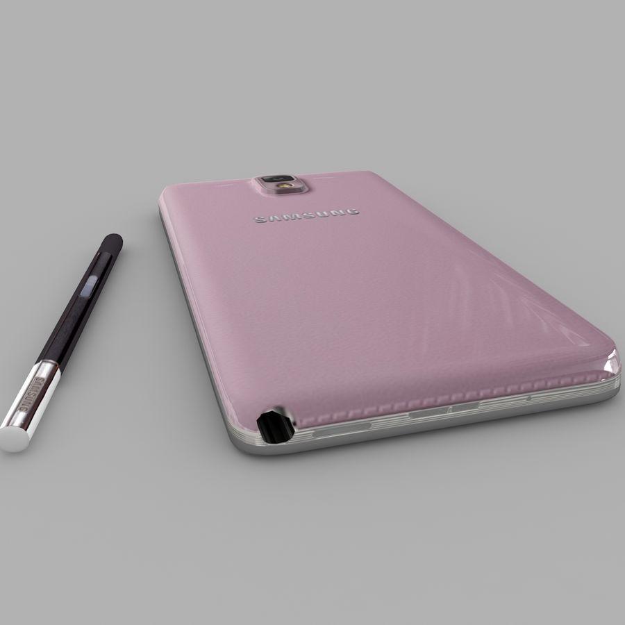 Samsung Galaxy Note 3 (rosa) royalty-free modelo 3d - Preview no. 5