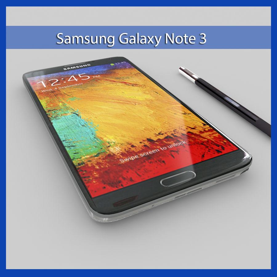 Samsung Galaxy Note 3 (rosa) royalty-free modelo 3d - Preview no. 1
