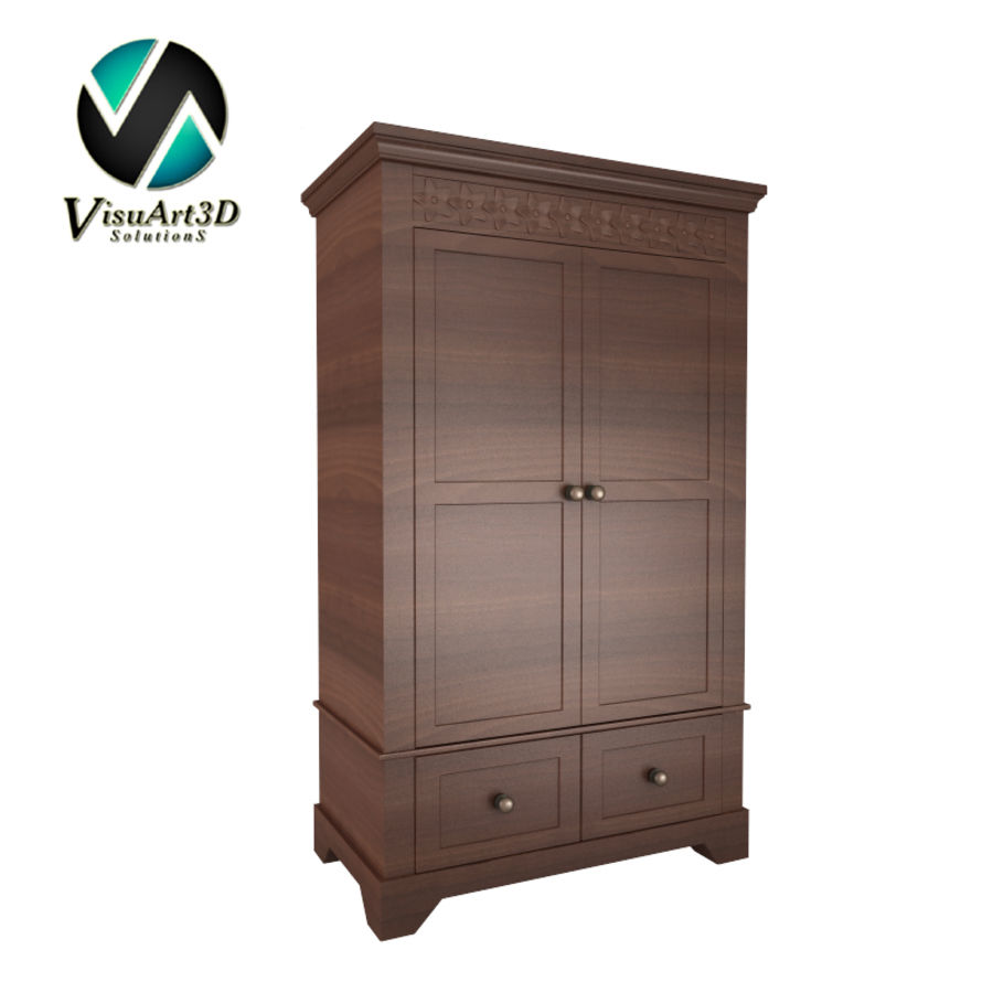 furniture 11 Armoire Cabinet royalty-free 3d model - Preview no. 1