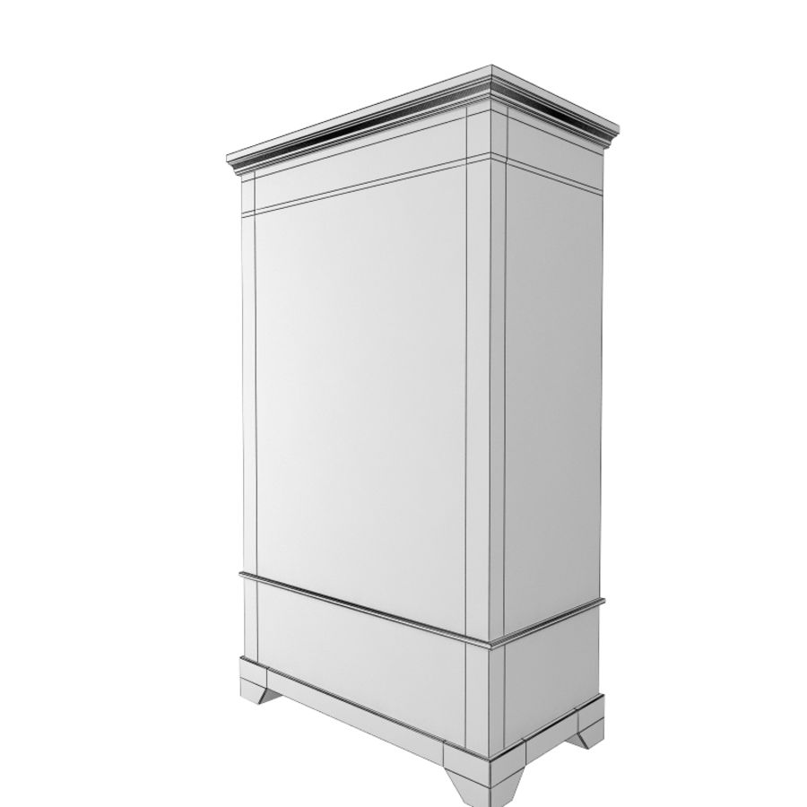 furniture 11 Armoire Cabinet royalty-free 3d model - Preview no. 4