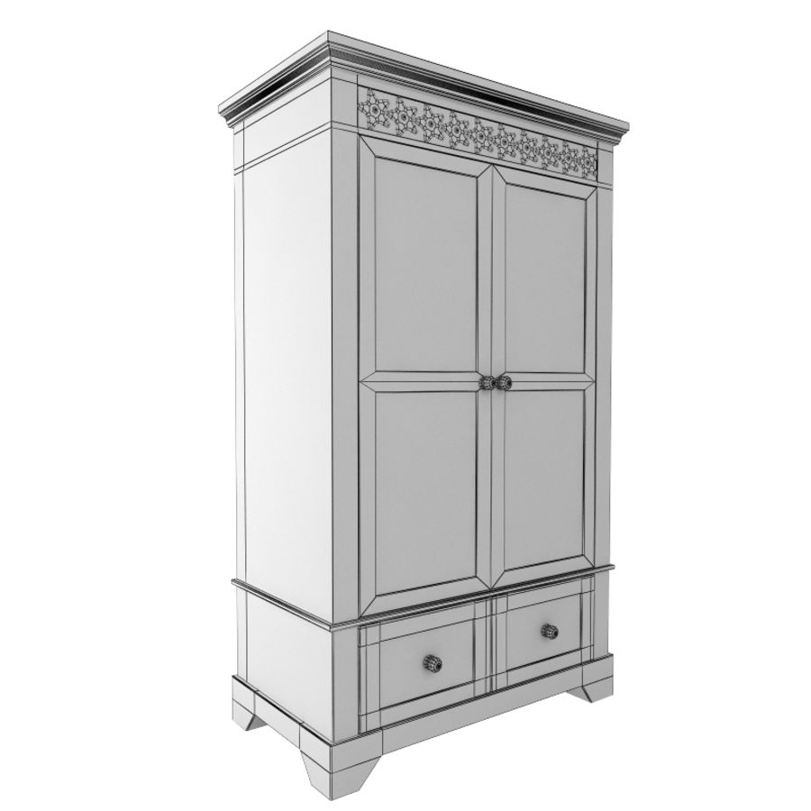 furniture 11 Armoire Cabinet royalty-free 3d model - Preview no. 5