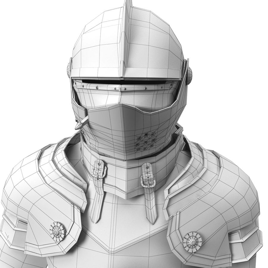 Knight Armor royalty-free 3d model - Preview no. 9