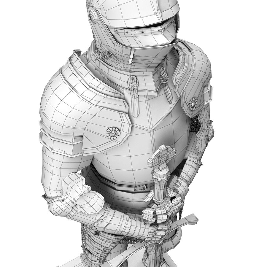 Knight Armor royalty-free 3d model - Preview no. 11