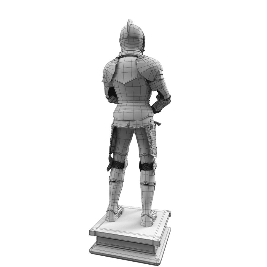 Knight Armor royalty-free 3d model - Preview no. 10