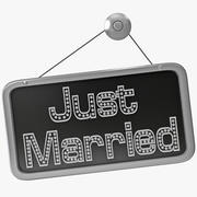 Just Married Sign 3d model
