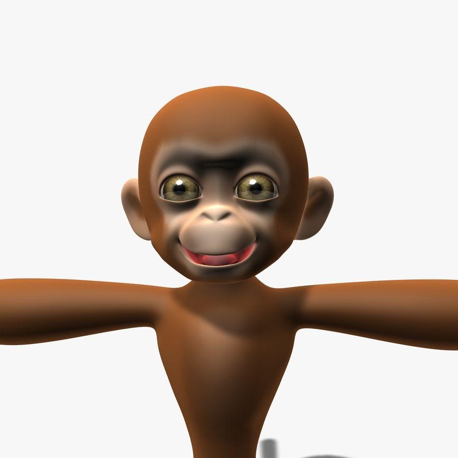 Cartoon Monkey royalty-free 3d model - Preview no. 7