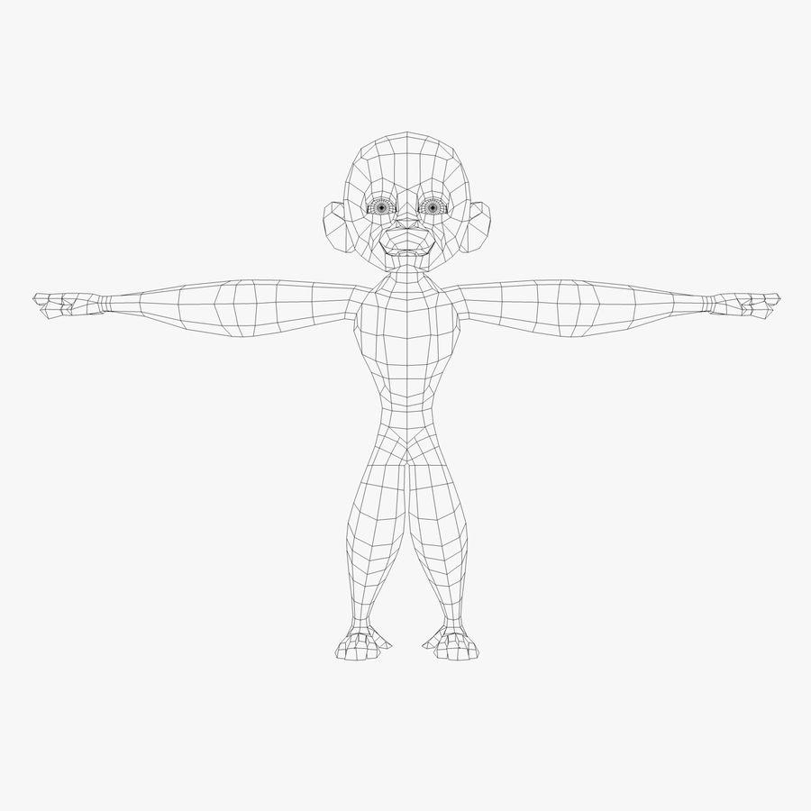 Cartoon Monkey royalty-free 3d model - Preview no. 6