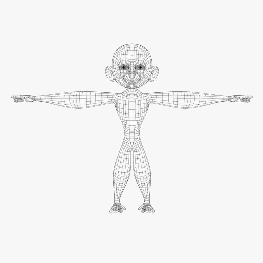 Cartoon Monkey royalty-free 3d model - Preview no. 5