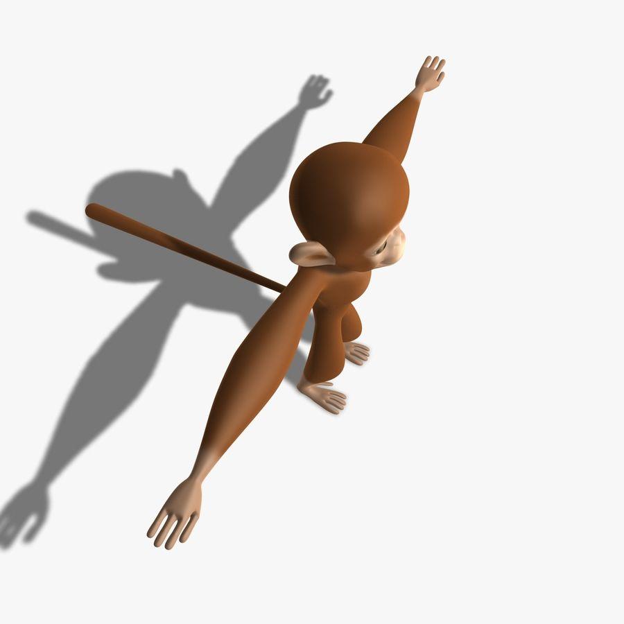 Cartoon Monkey royalty-free 3d model - Preview no. 3