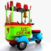 Cartoon Icecream Bike 3d model