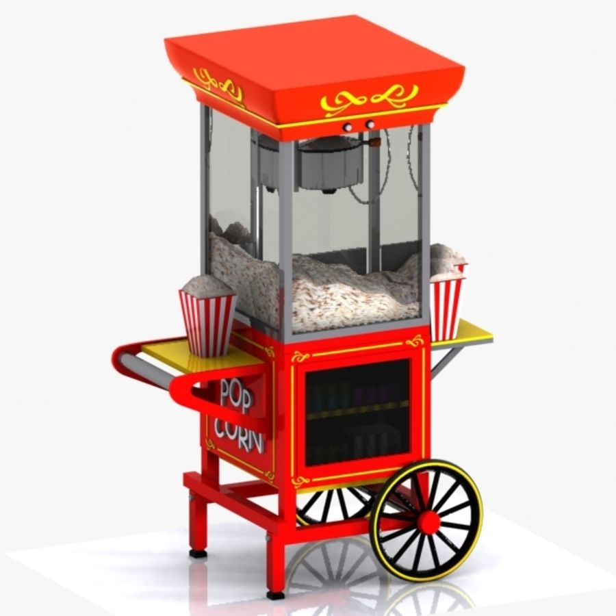 Popcorn Cart 2 3D Model $15 -  unknown  obj  fbx  3ds  max