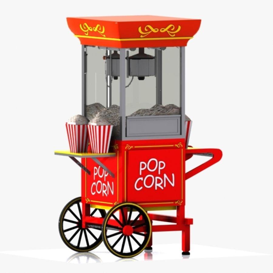 Popcorn Cart 2 3D Model $15 -  unknown  obj  fbx  3ds  max