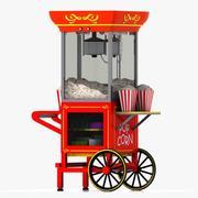 Корзина для попкорна 2 3d model