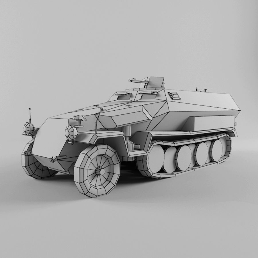 SdKfz 251-C royalty-free 3d model - Preview no. 11