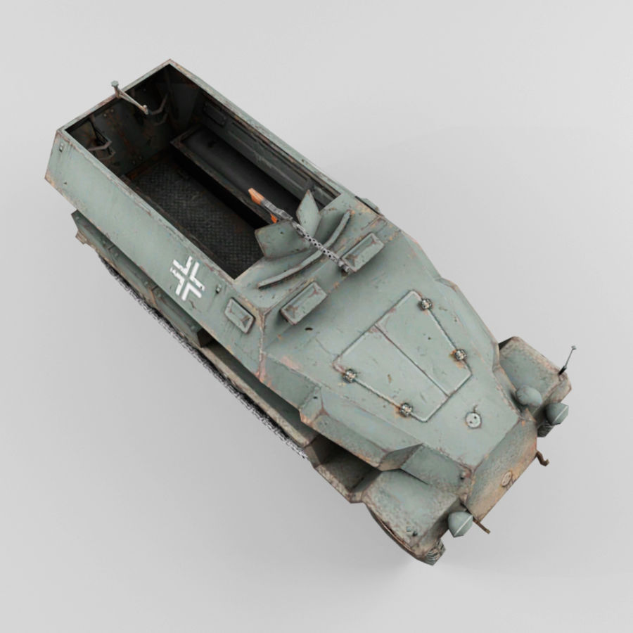 SdKfz 251-C royalty-free 3d model - Preview no. 9