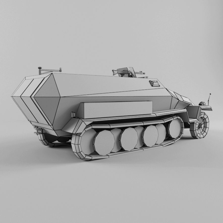 SdKfz 251-C royalty-free 3d model - Preview no. 12