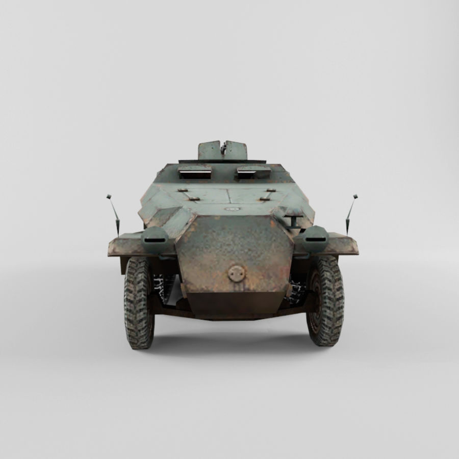 SdKfz 251-C royalty-free 3d model - Preview no. 8
