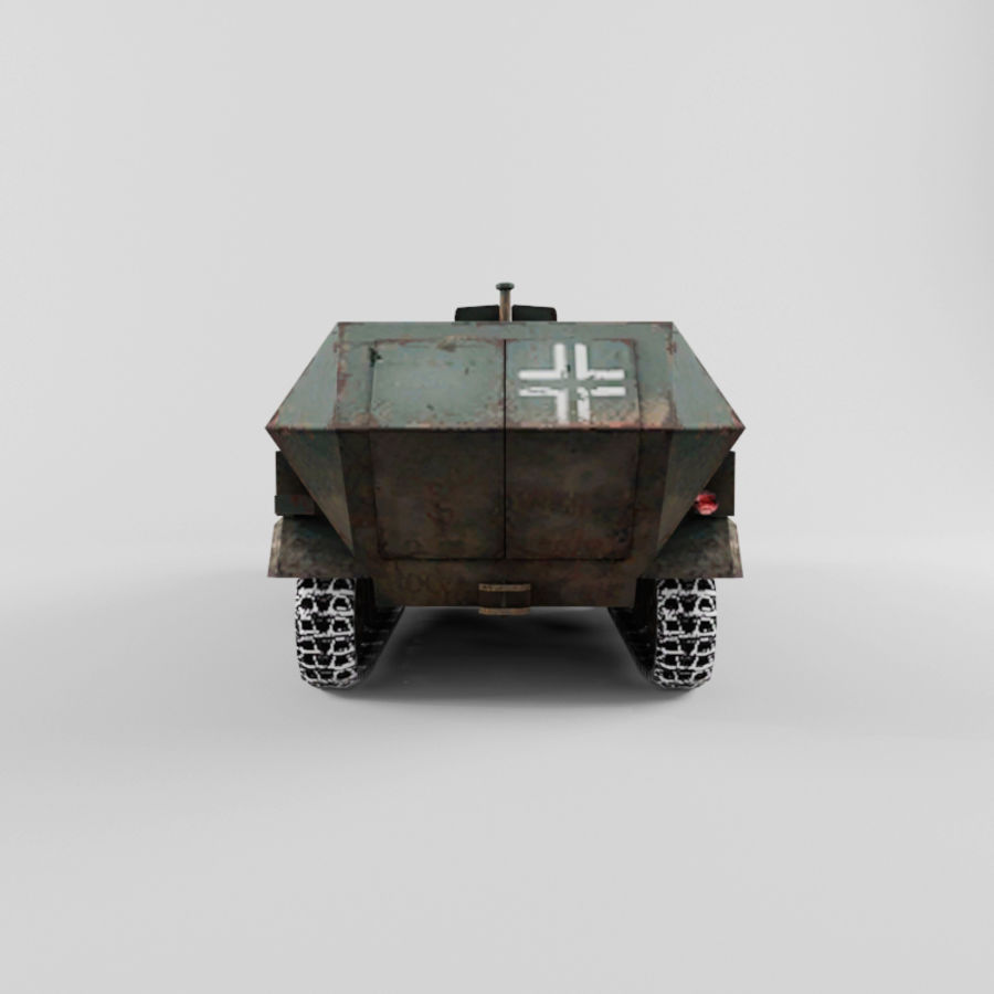 SdKfz 251-C royalty-free 3d model - Preview no. 4