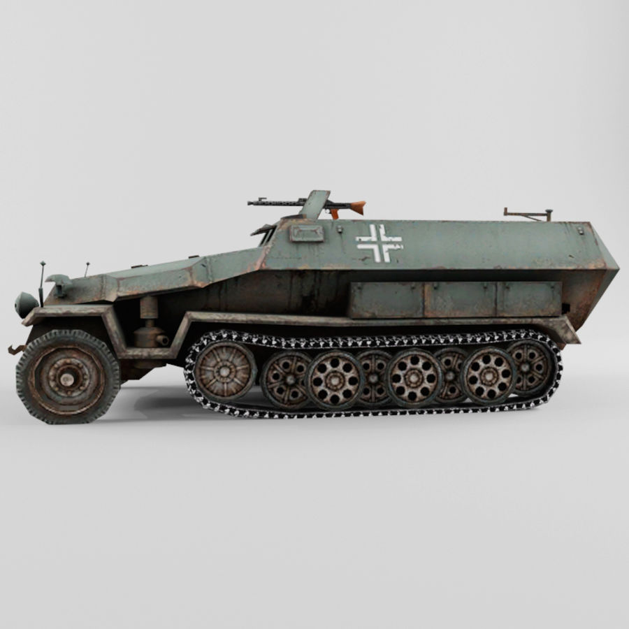 SdKfz 251-C royalty-free 3d model - Preview no. 2
