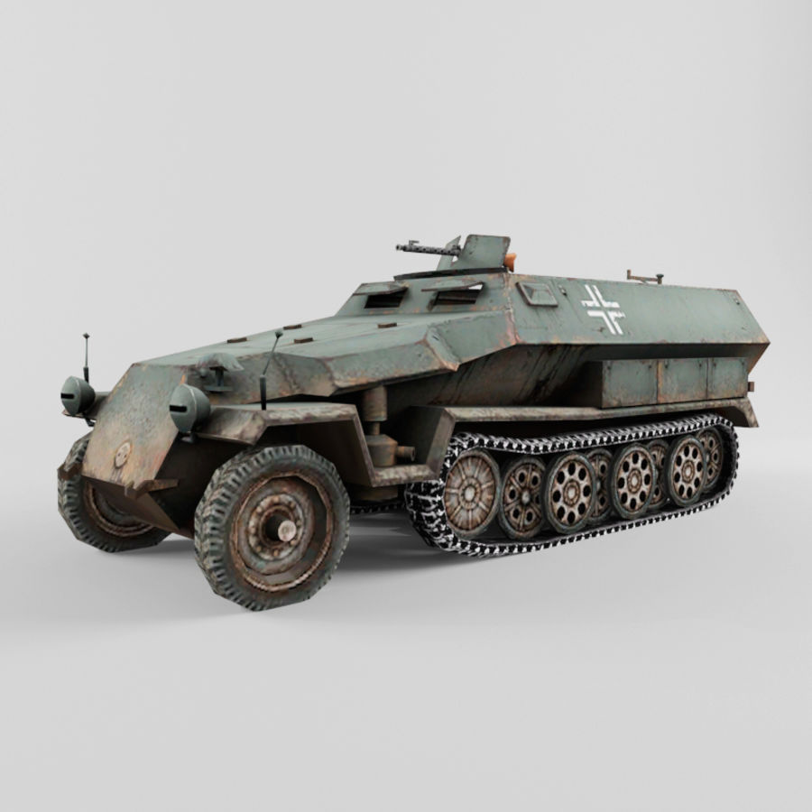 SdKfz 251-C royalty-free 3d model - Preview no. 1