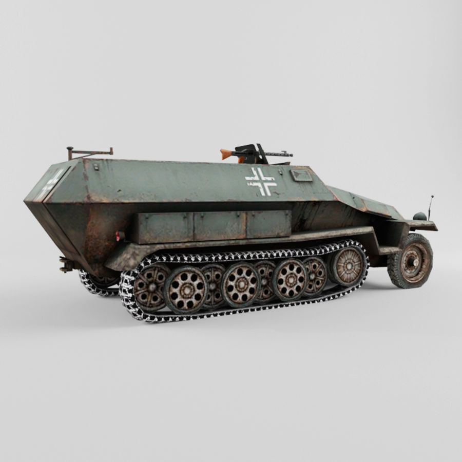 SdKfz 251-C royalty-free 3d model - Preview no. 5