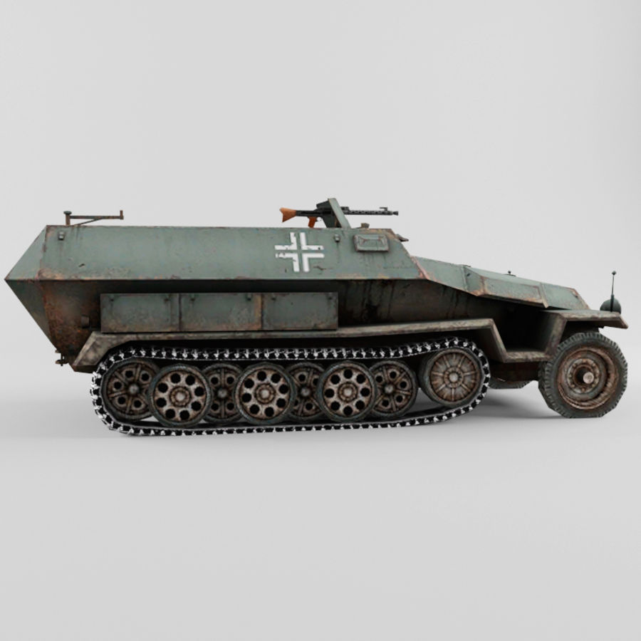SdKfz 251-C royalty-free 3d model - Preview no. 6