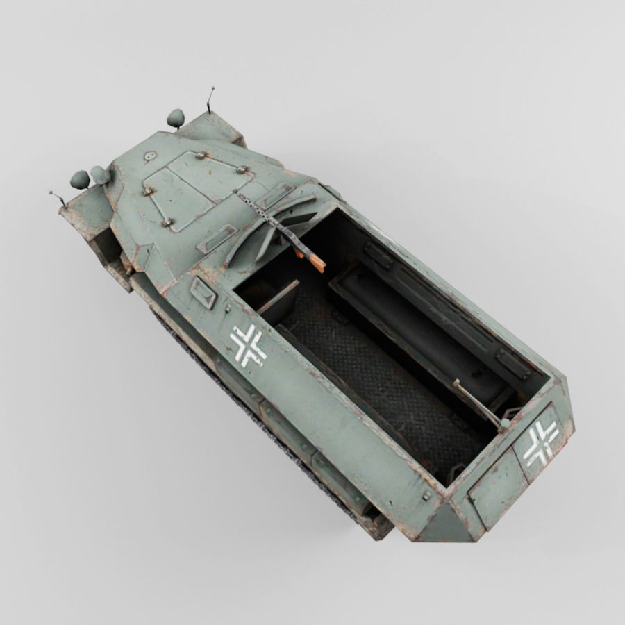 SdKfz 251-C royalty-free 3d model - Preview no. 10