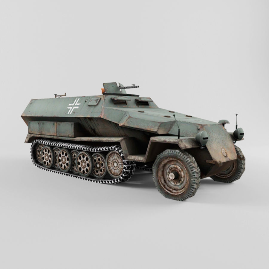 SdKfz 251-C royalty-free 3d model - Preview no. 7