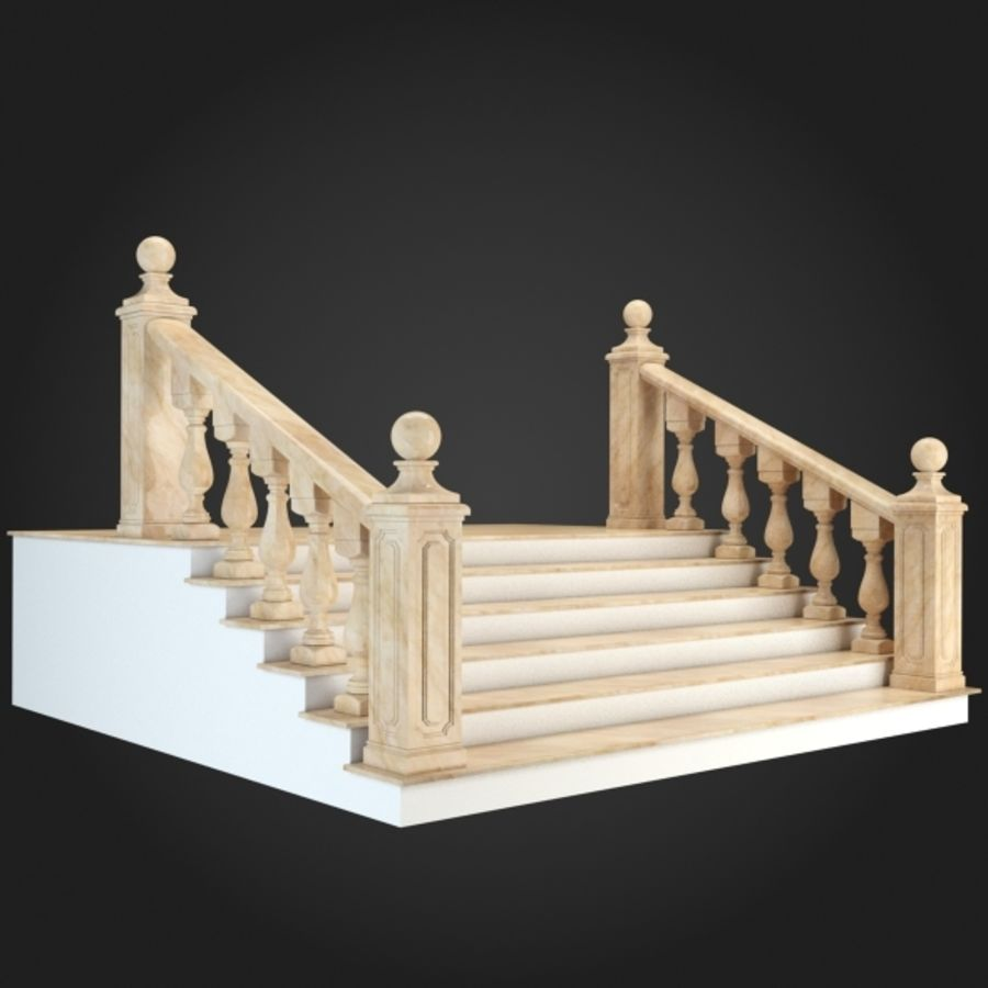 Staircase 001 royalty-free 3d model - Preview no. 3
