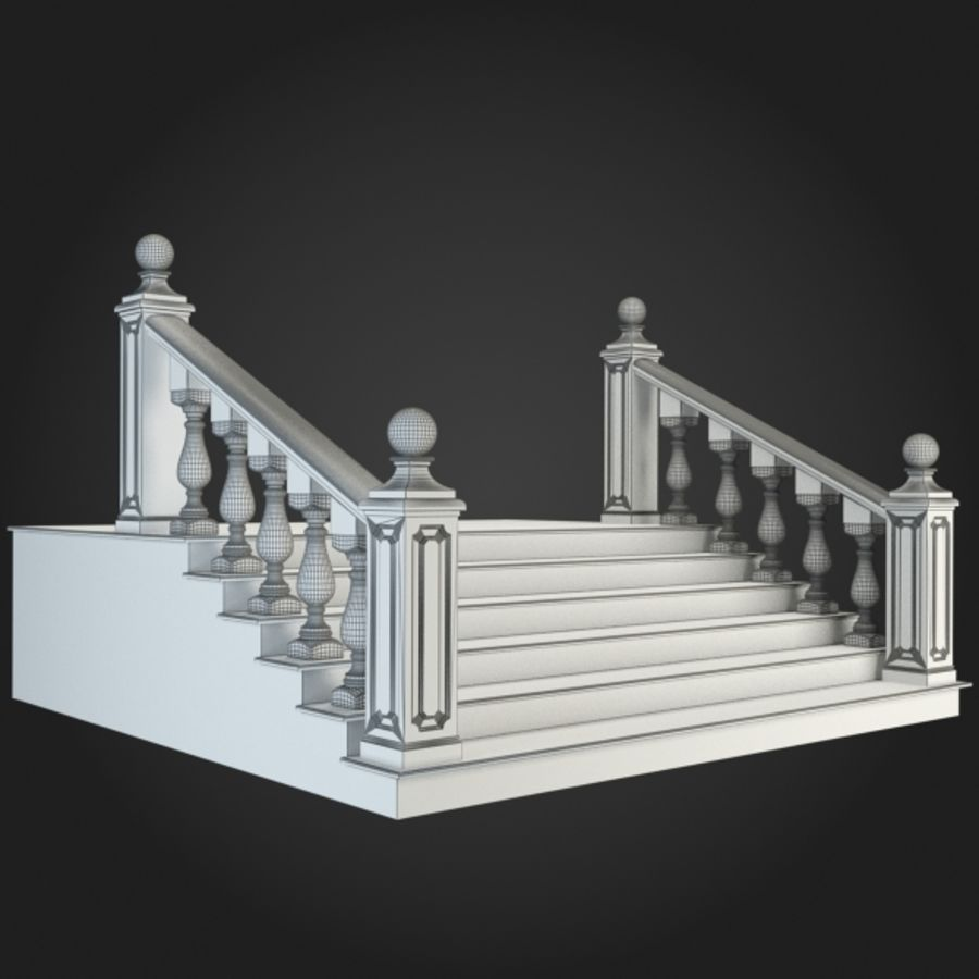 Staircase 001 royalty-free 3d model - Preview no. 2