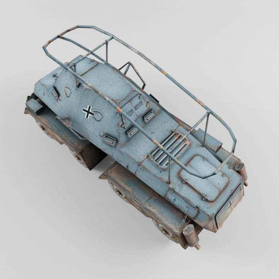 SdKfz 263 royalty-free 3d model - Preview no. 10