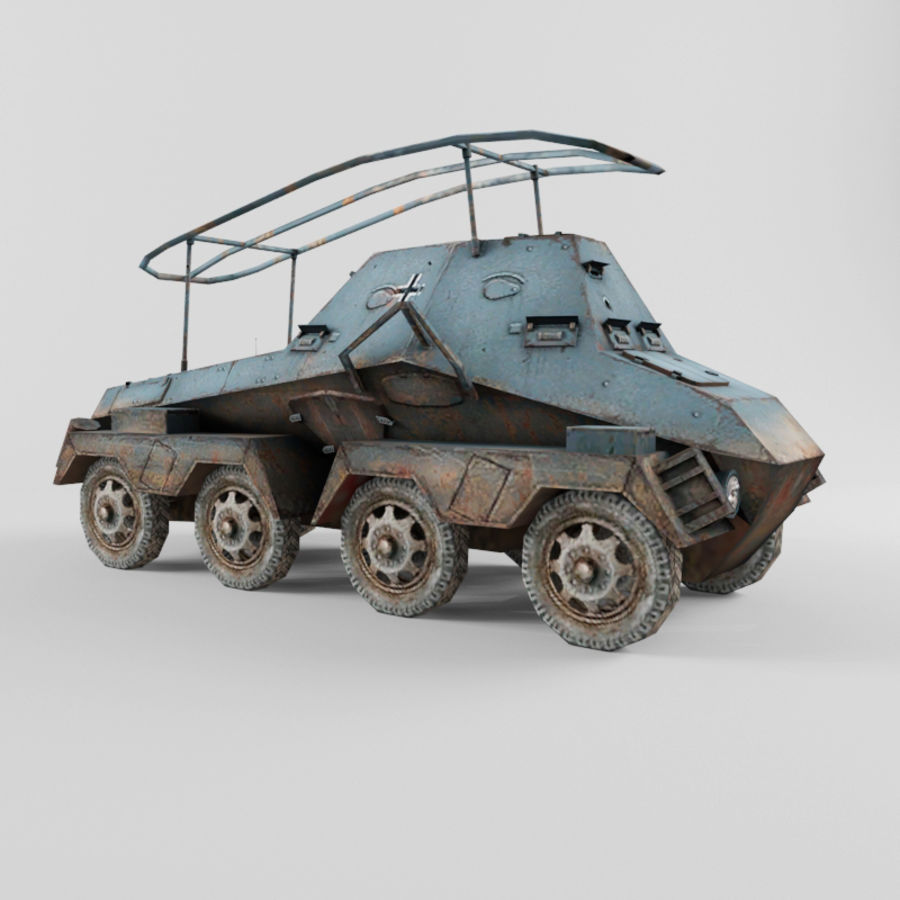 SdKfz 263 royalty-free 3d model - Preview no. 7
