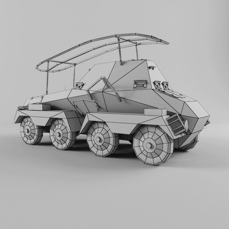 SdKfz 263 royalty-free 3d model - Preview no. 11