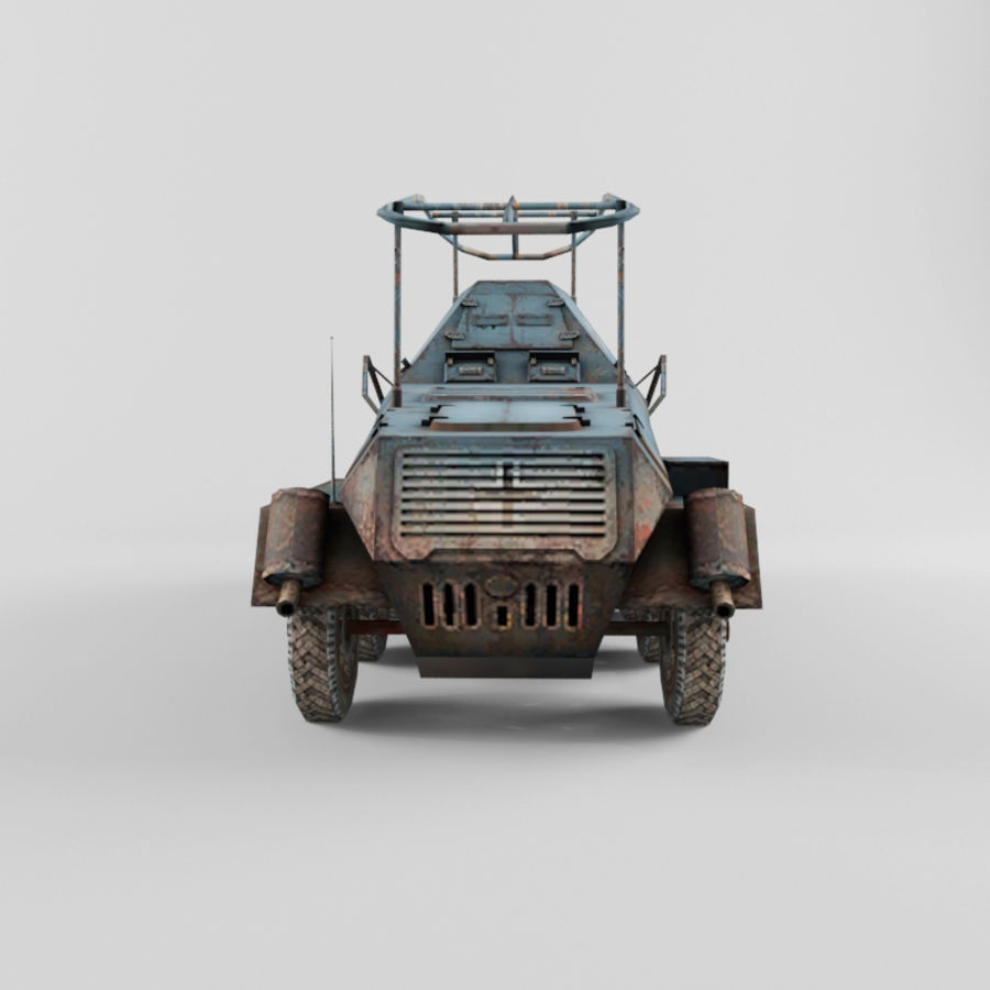 SdKfz 263 royalty-free 3d model - Preview no. 4