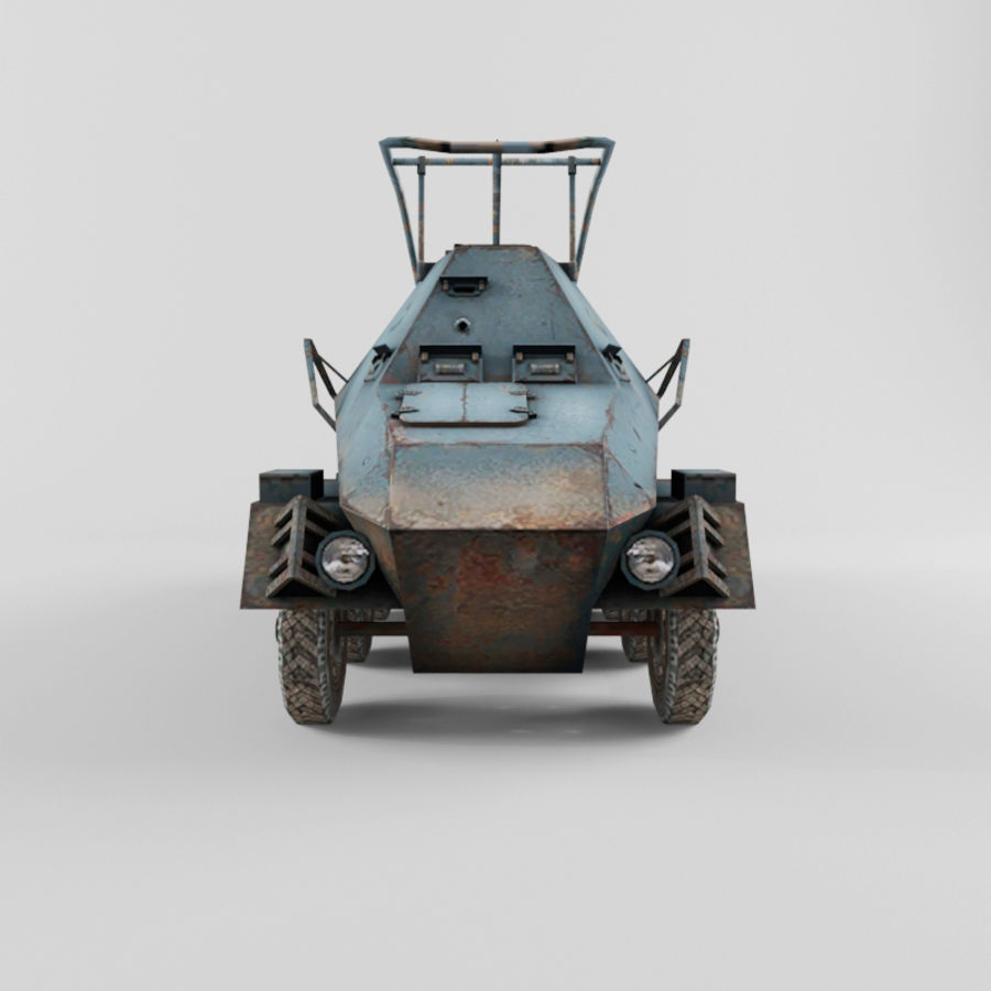 SdKfz 263 royalty-free 3d model - Preview no. 8