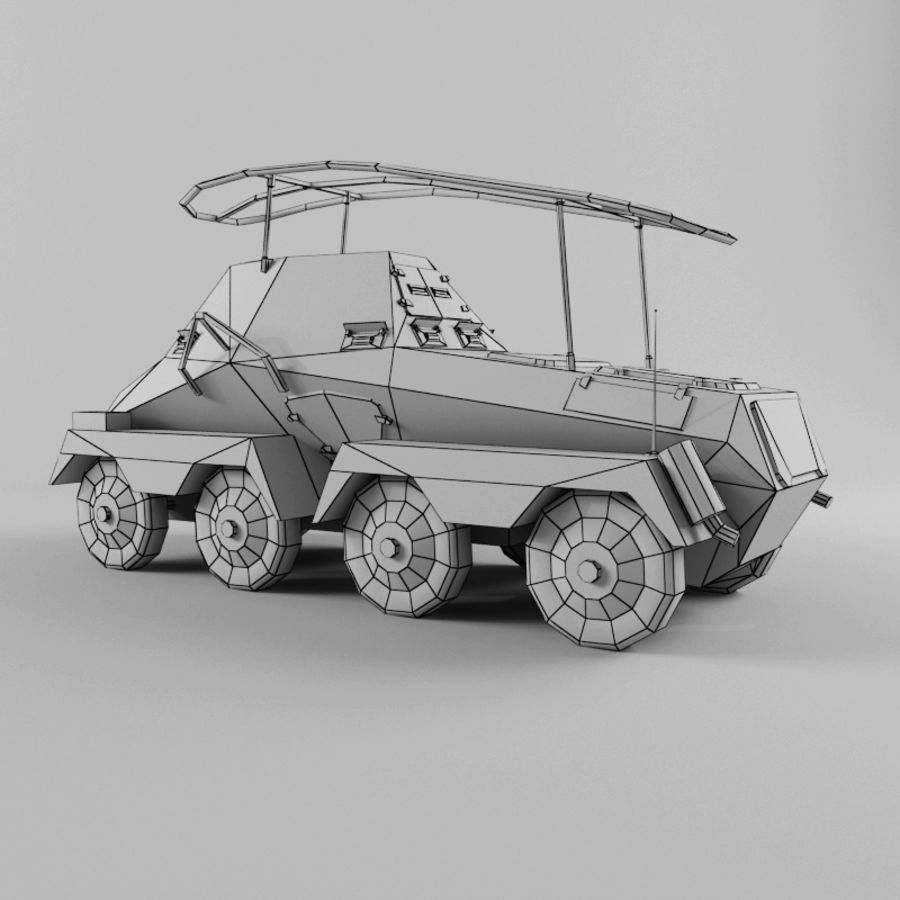 SdKfz 263 royalty-free 3d model - Preview no. 12