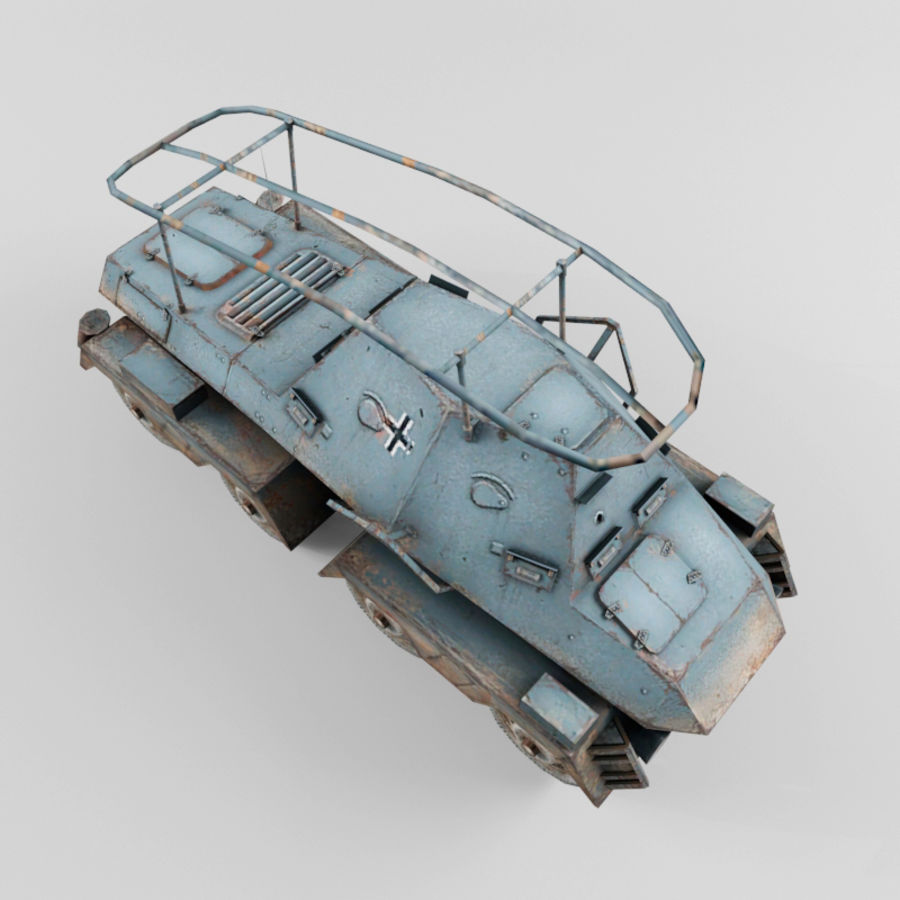 SdKfz 263 royalty-free 3d model - Preview no. 9