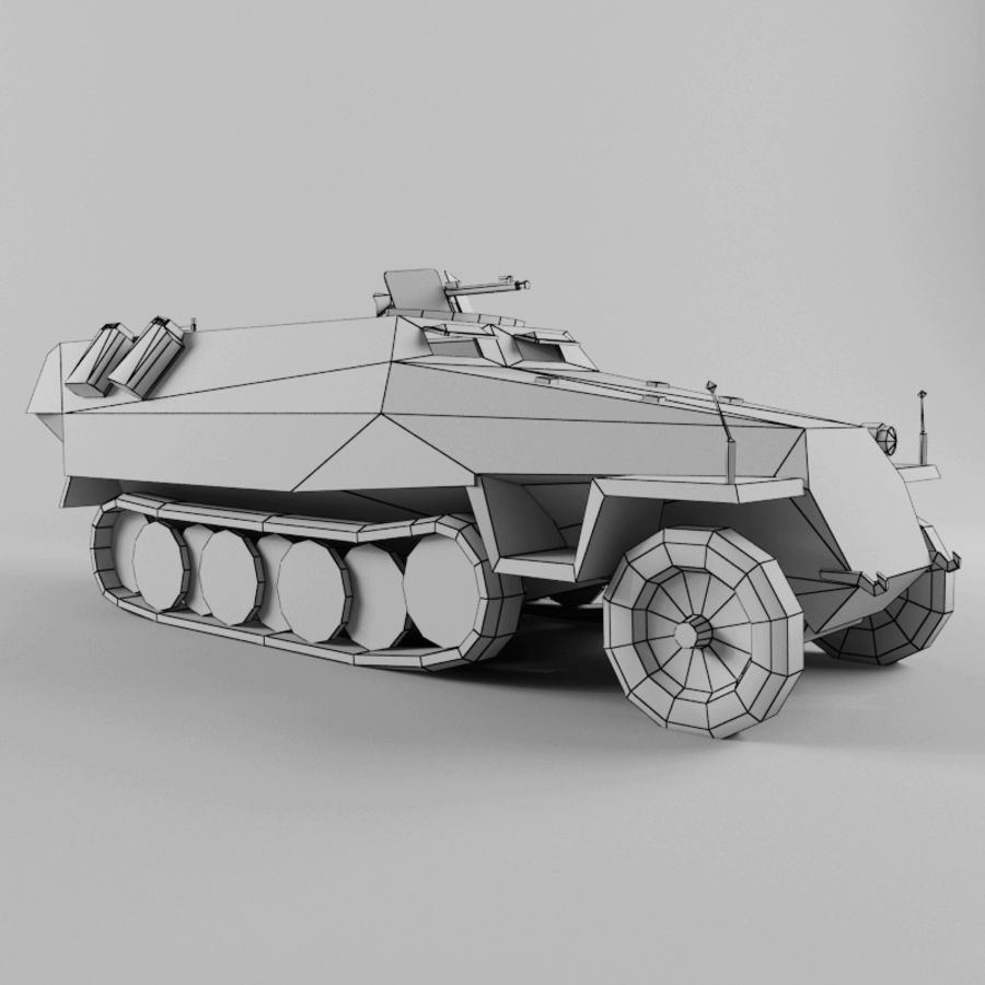 SdKfz 251-D royalty-free 3d model - Preview no. 11
